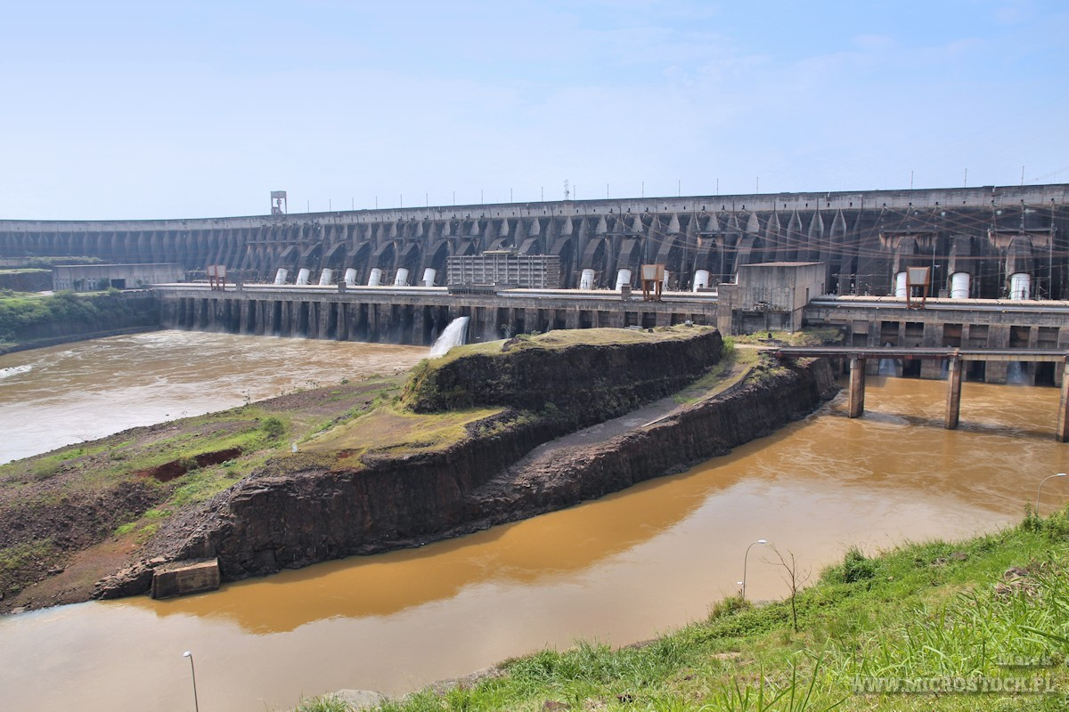 Itaipu Dam in Brazil and Paraguay