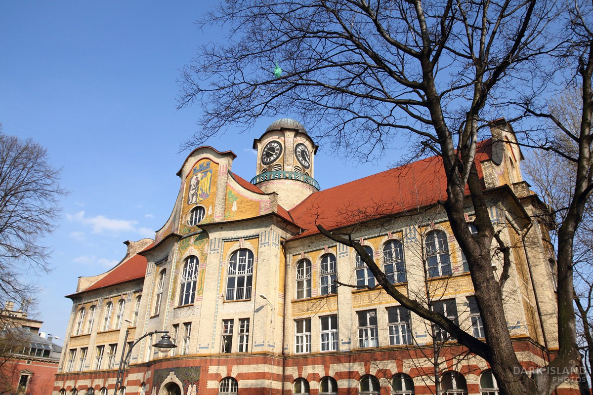 Secession style high school in Bytom, Poland