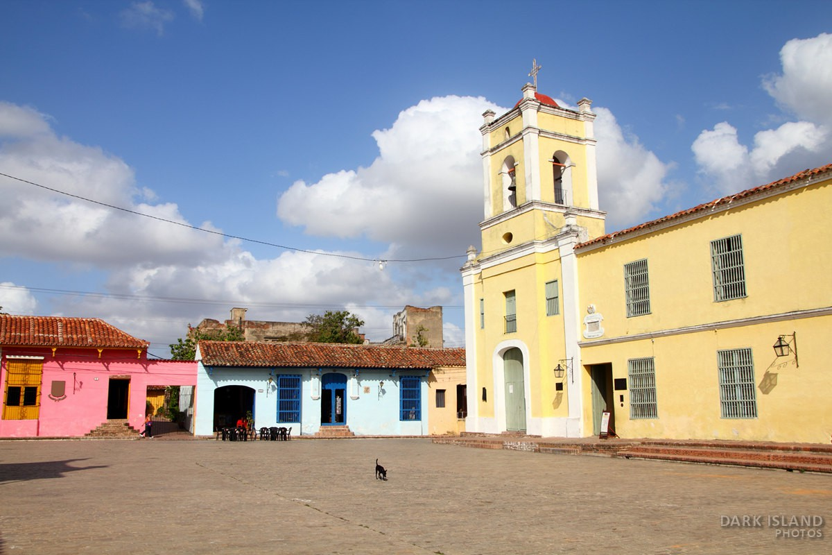 Old colonial architecture in Camaguey, Cuba