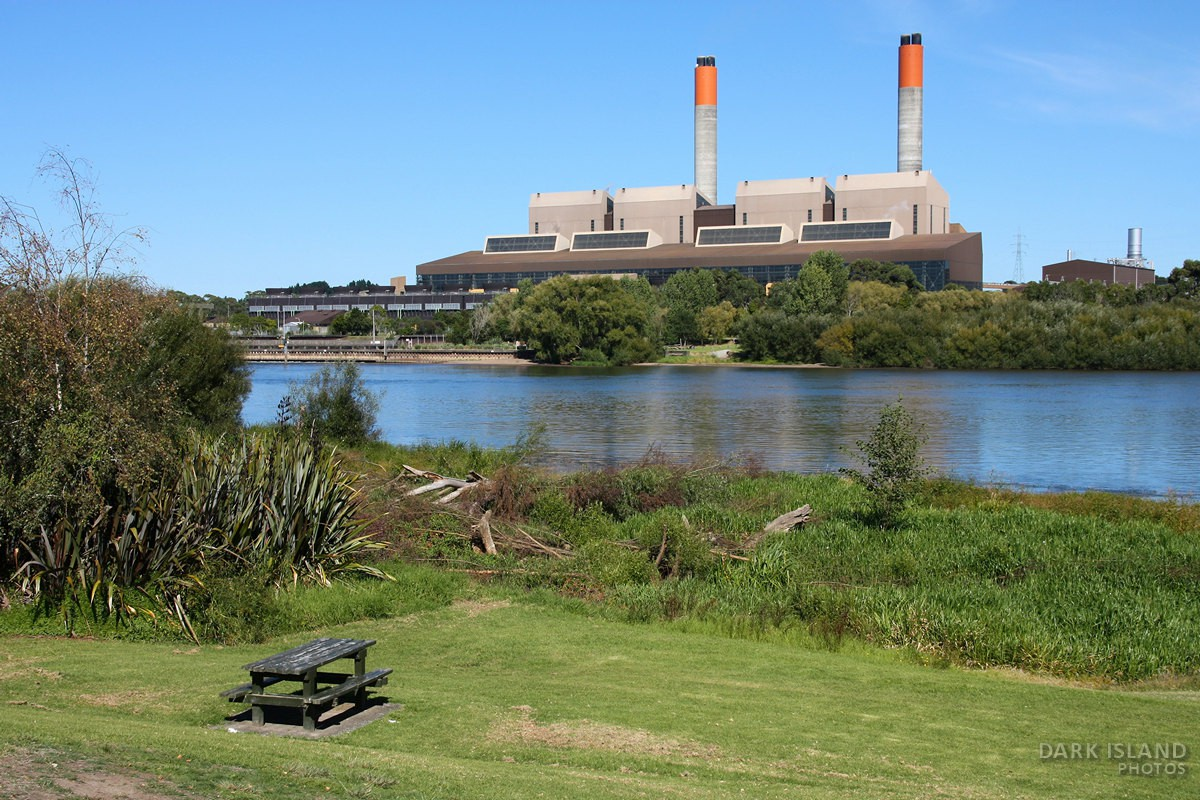 Huntly power plant in New Zealand
