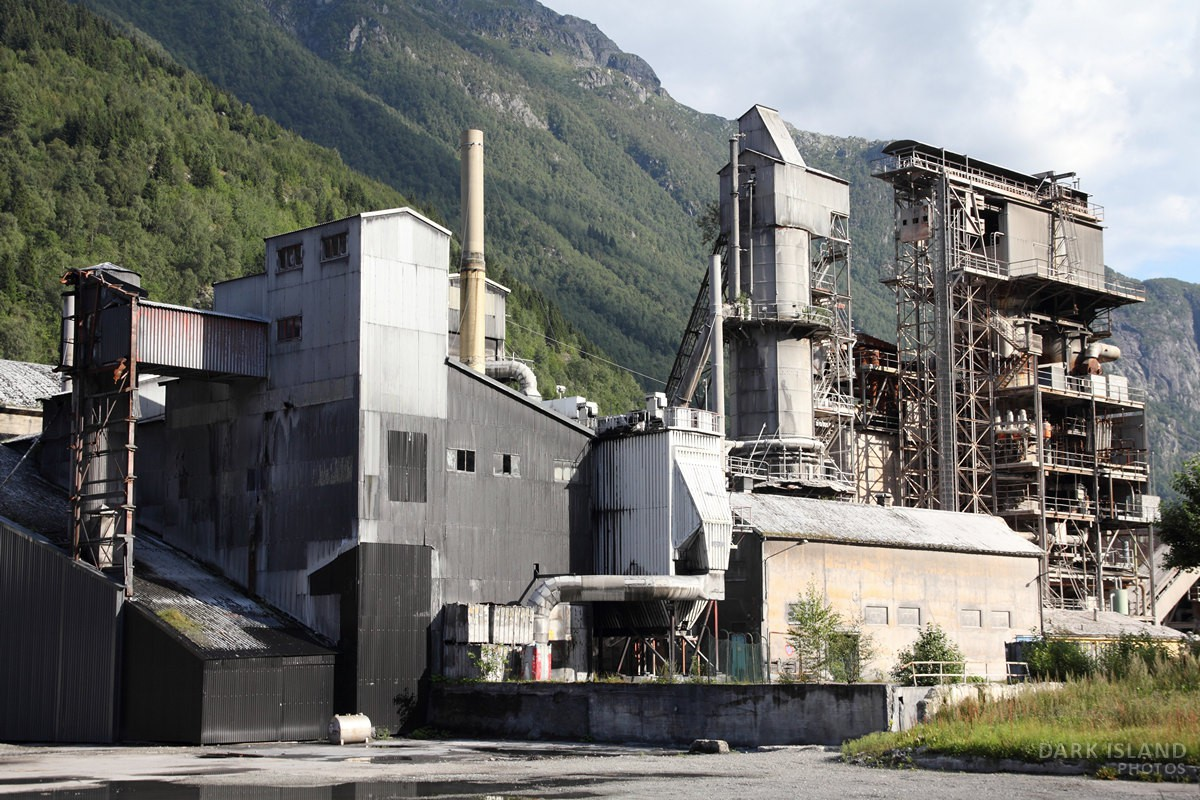 Abandoned steelworks in Odda, Norway